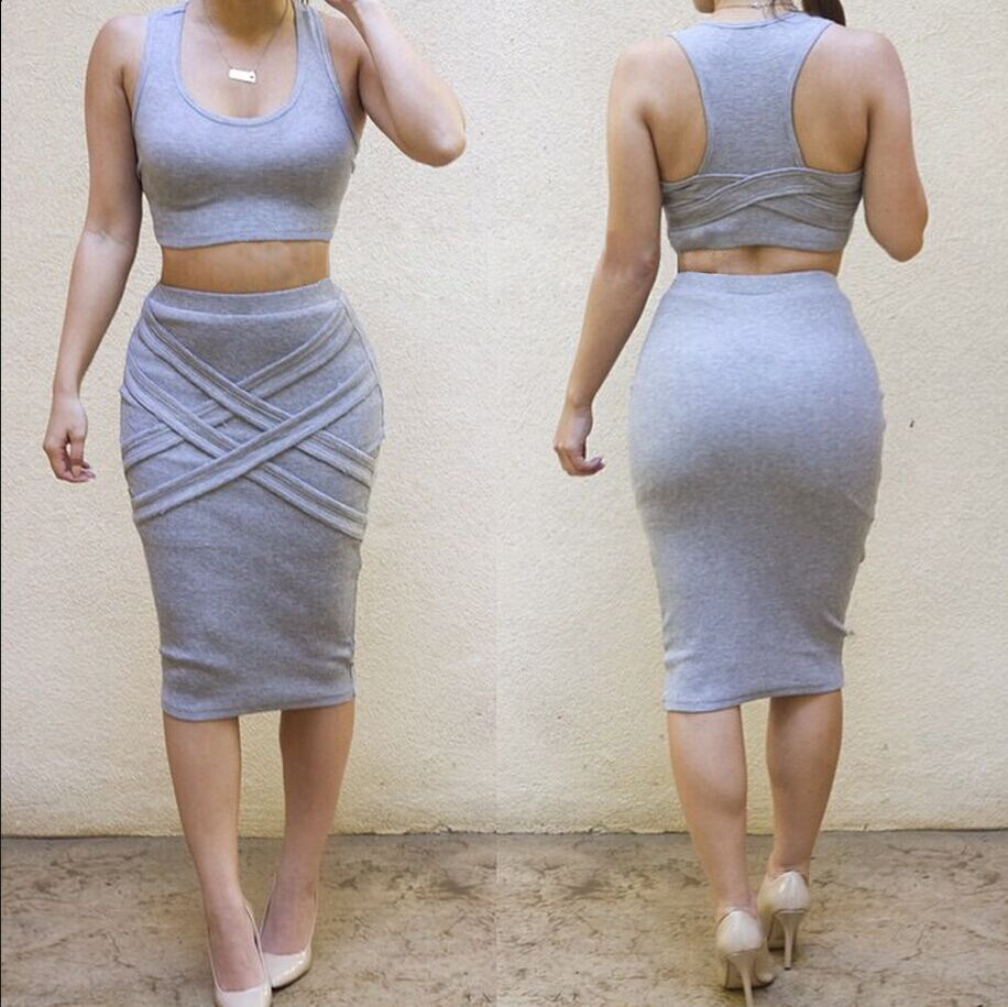 0d56b98148a3e6 Two Piece Bandage Dress