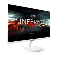 white color adjustable stand 75Hz 12v dc computer led monitor 24 inch with 2 vesa holes