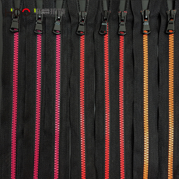 Popular 3# colorful open end resin zipper for garment