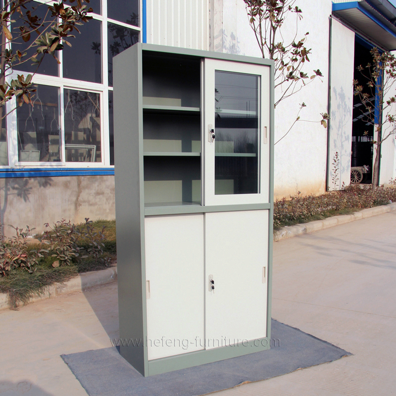 Tall storage cabinets with sliding doors roselawnlutheran for Tall garage doors