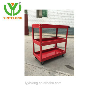 Customized red good quality garden tool cart