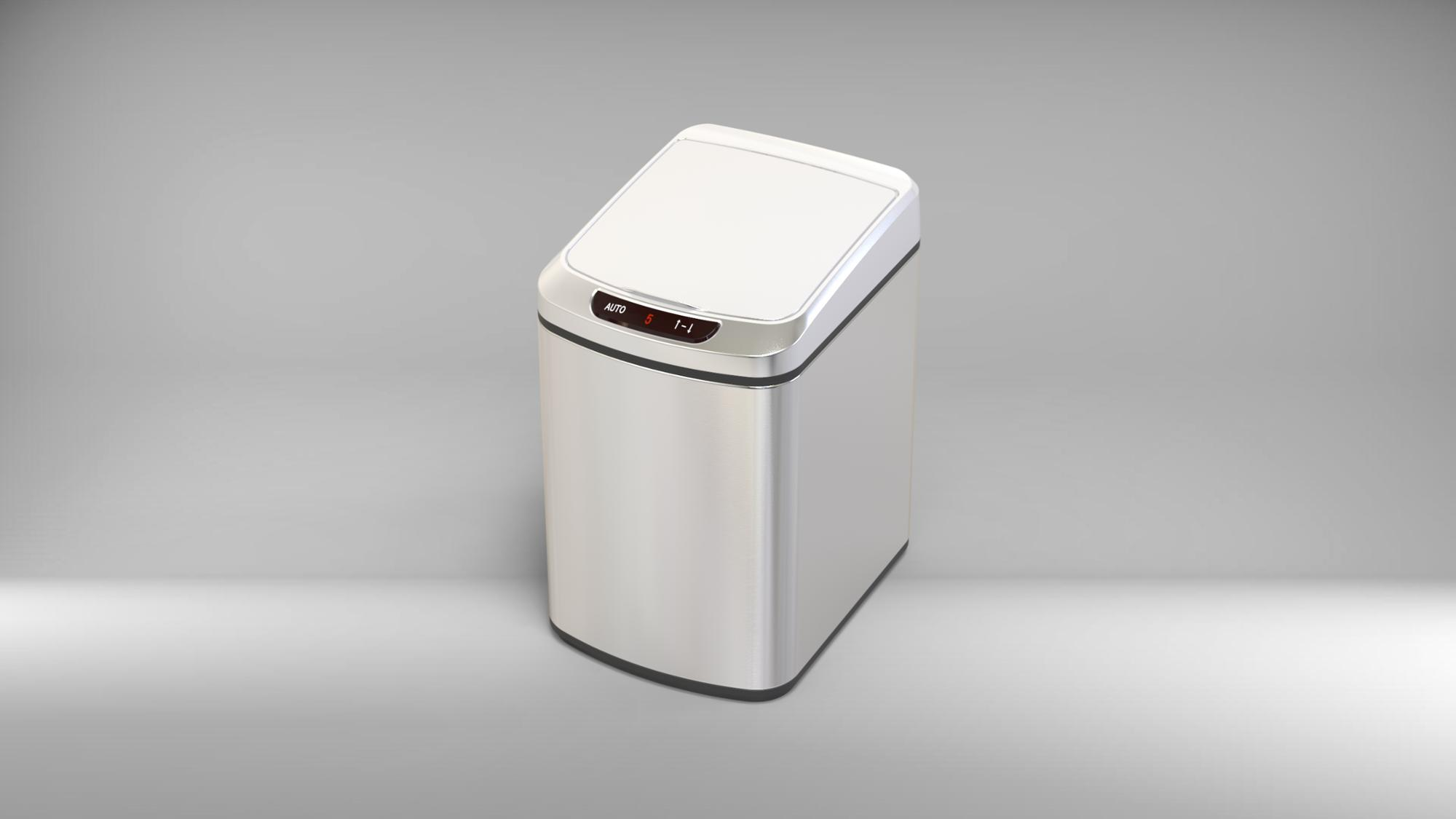 13 gallon stainless eco-friendly automatic kitchen sensor trash can