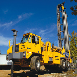 Atlas Copco T4W Carrier mounted deep Water Well drill down the hole Rotary air mud drilling