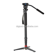 DIGIPOD A-3205VH Professionele 80 inch <span class=keywords><strong>Aluminium</strong></span> Fluid Video Head Monopod <span class=keywords><strong>Statief</strong></span> Voor <span class=keywords><strong>Digitale</strong></span> Camera