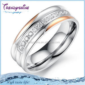 Cheap fashion silver titanium ring for indonesia gemstone