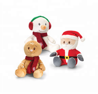 Promotional gift snowman santa reindeer christmas plush toys in bulk/penguin soft toy,christmas teddy bear