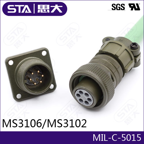 Amphenol MIL-C-5015 Connector,4pin Circular Cable Connector,MS3108A28-4S/MS3102A28-4P/MS3106A28-4S,28-4