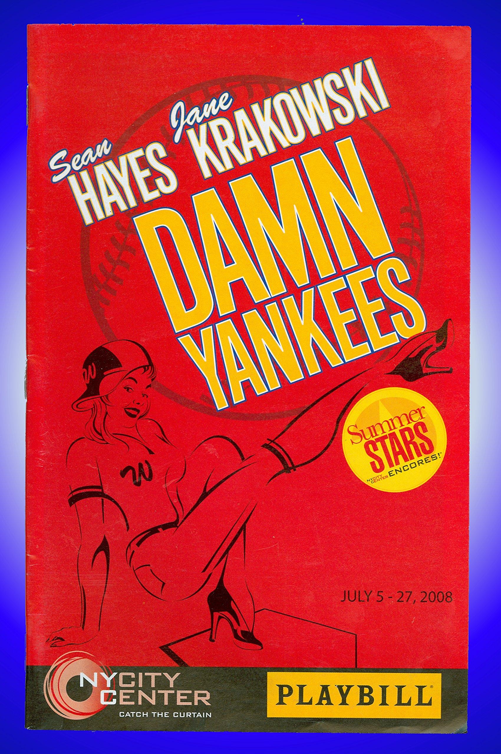 Damn Yankees, City Center Playbill + Sean Hayes & Jane Krakowski Cheyenne Jackson, Randy Graff, Cheyenne Jackson, Randy Graff