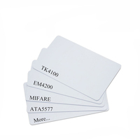 125KHz Low Frequency TK4100 T5577 Sequence Unique dool barcode RFID Door Access Control Card