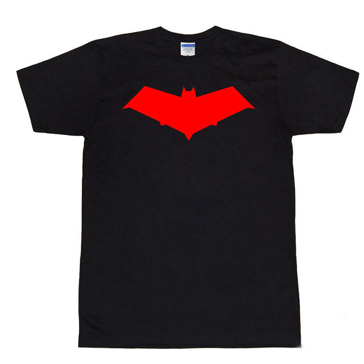 Mens Casual Summer Batman:Under the Red Hood Jason Todd The Red Hood T-shirts Print Cotton Short Sleeve Tops Tee Shirts Black