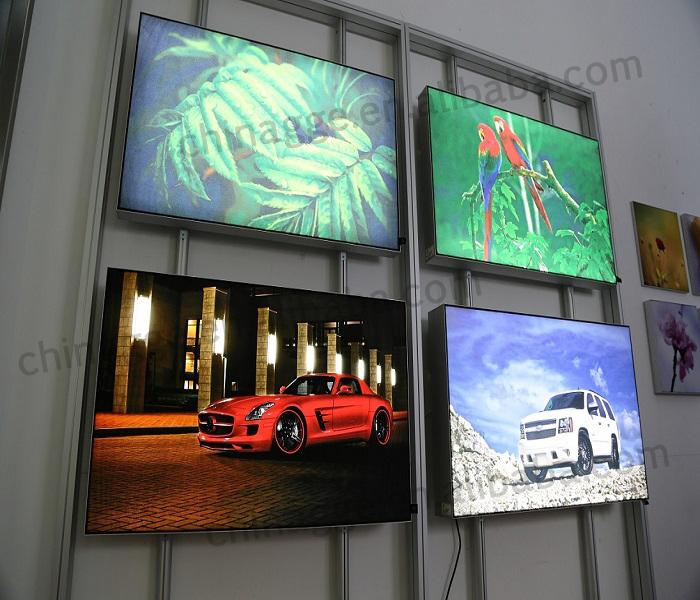 Frameless Backlit Led Fabric Light Box Advertising Display