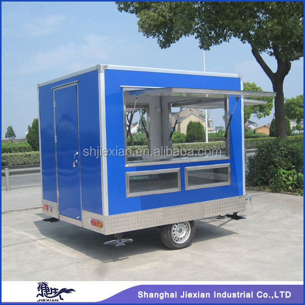 JX-FS250 three sides window opening outdoor fast food mini Mobile Kitchen truck