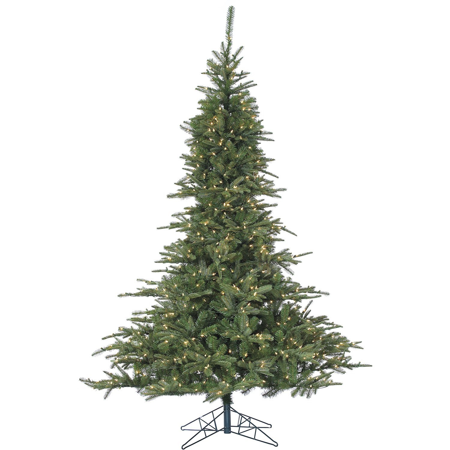 """Fraser Hill Farm FFCL075-3GR Cluster Pine Artificial Christmas Tree with Smart String Lighting, 7.5"""""""