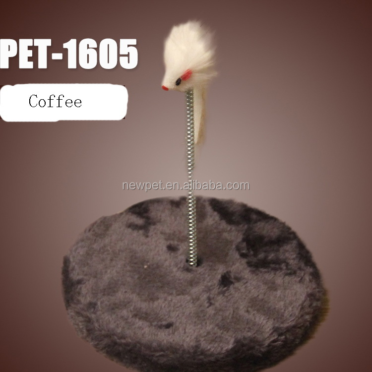 In many styles attractive design gray round cat toys corrugated pet toys for cat scratcher