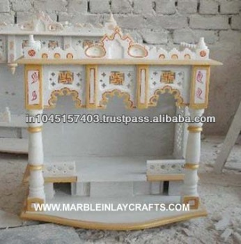 Makrana marble home temple buy marble home temple pure marble mandir decorative marble temple for Marble temple designs for home