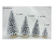 A SET OF COLOR FIBER CHRISTMAS TREE HOME DECORATION W/WOOD BASE