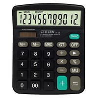 Solar Calculator Business Work Calculate Commercial Tool Battery or Solar 2in1 Powered 12 Digit Electronic Calculator and Button
