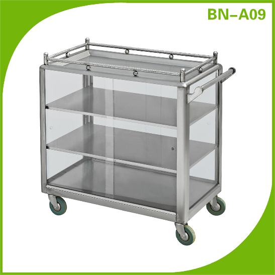 Stainless Steel Table Trolley For Carring Drinks And Food