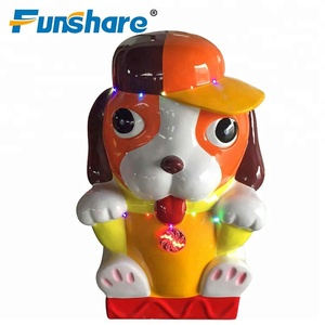 China supplier arcade kiddie ride on dog kids coin operated game machine