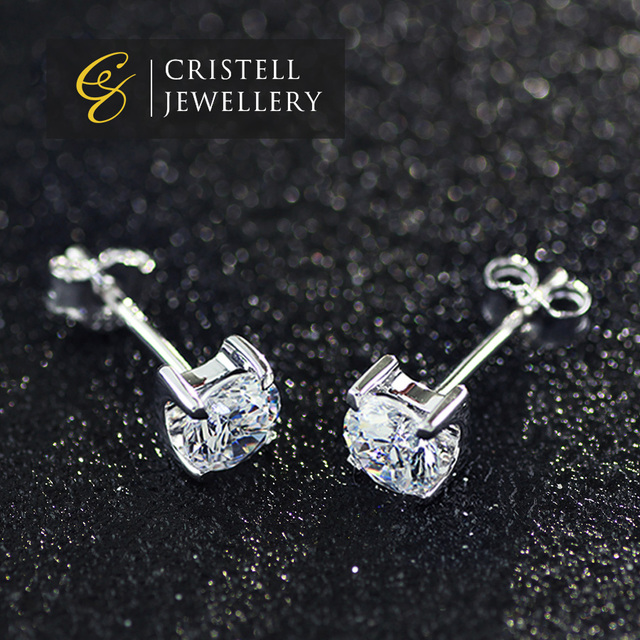 4607e1edc 925 sterling silver earrings jewelry with CZ AAA Zircon stones and platinum  plating