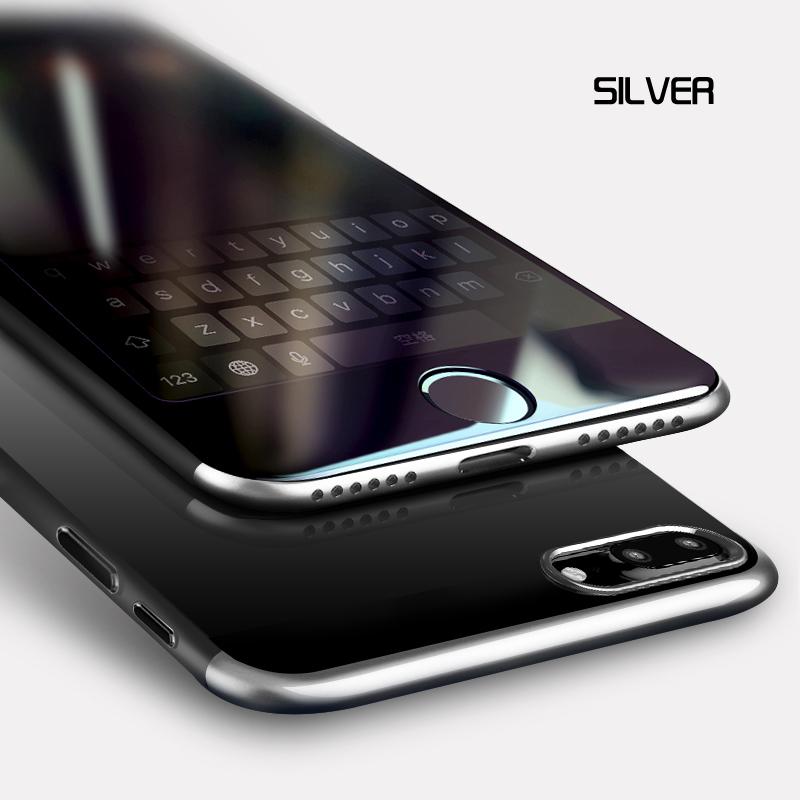 Роскошный чехол для телефона Baseus для iPhone 8 7 Plus, ультра тонкий чехол с покрытием для iPhone 8plus 7 plus, iPhone8, чехол, Fundas(Китай)