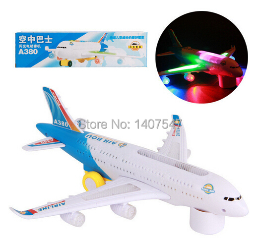 New A380 Airbus Toys Airplane with music and lights large electric music plane toys for