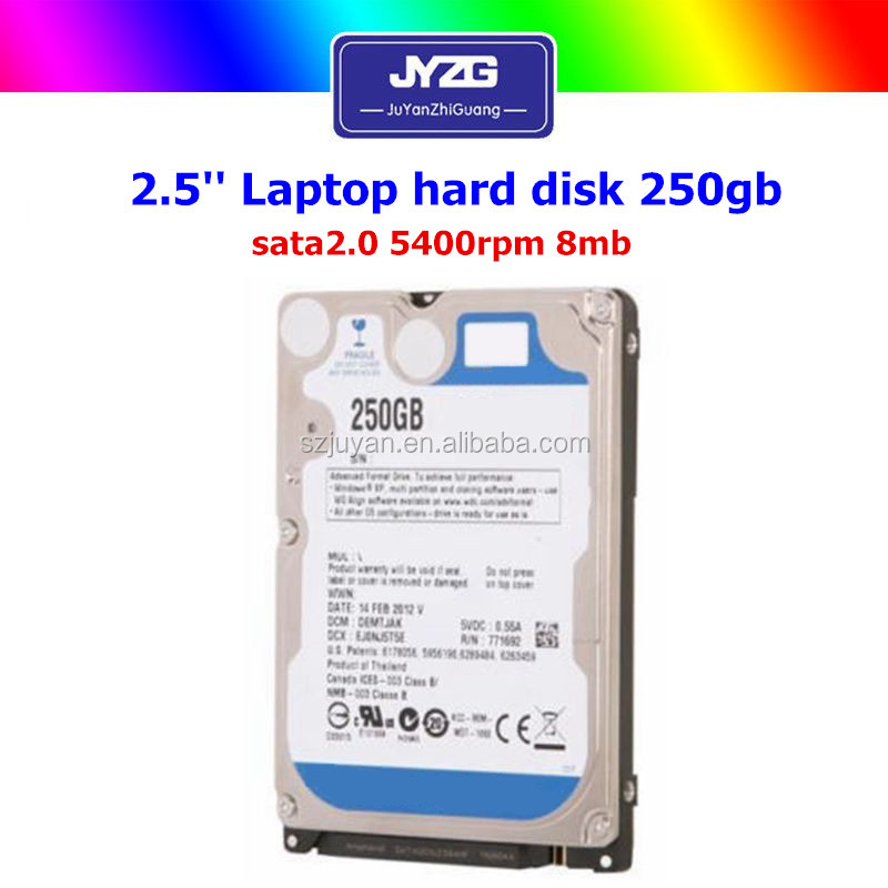 [Slim 2.5 hdd] 250gb internal SATA 5400rpm 8MB used hard disk for laptop