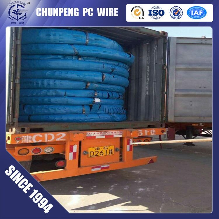 metal building material 82b spiral pc wire for bridge construction
