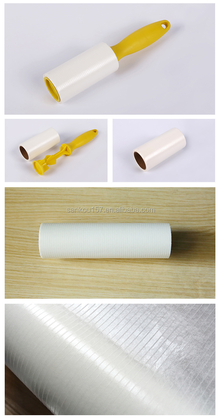 factory direct w structure gluing paper cylinder shaped colorful sticky lint roller