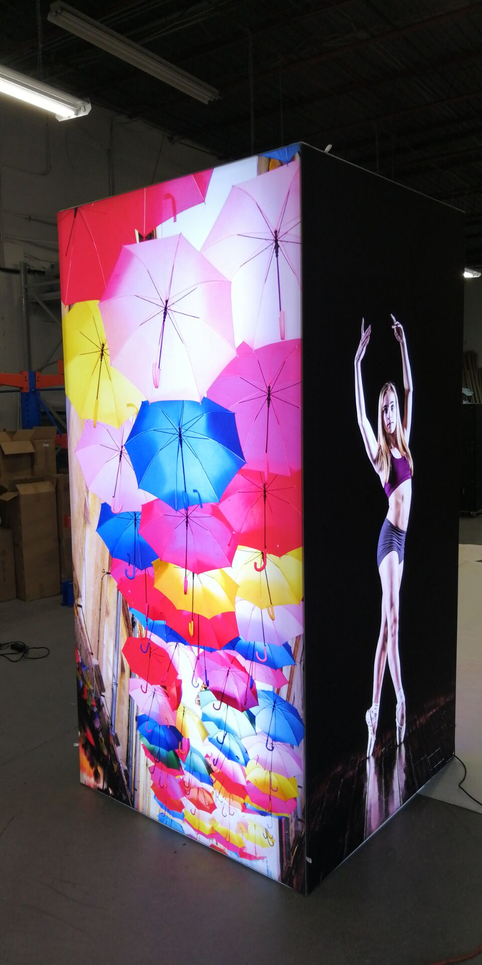 Dye sublimation fabric 320cm for SEG light box display system