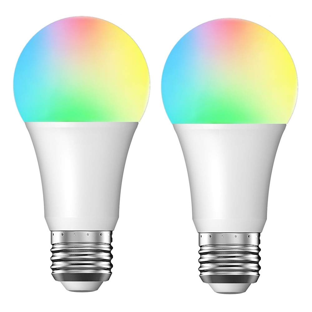 Smart LED Light Bulb E26 WiFi Multicolor Light Bulb Work with Alexa, Echo, Google Home and IFTTT (No Hub Required), Peteme A19