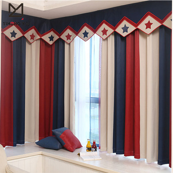 Striped Printed Window Curtains For The Bedroom Fancy Children Modern  Curtains For Living Room Kids