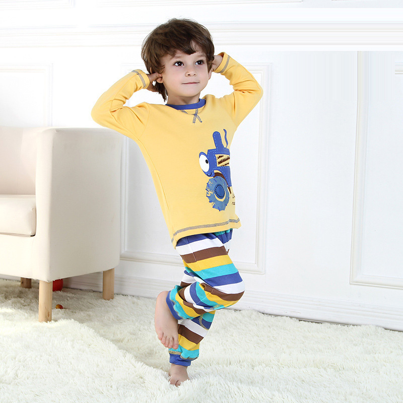 2015 Casual Boys Clothing Sets roupa de bebe menino Fashion Cotton Boys Tracksuit Character Boys Clothes Cartoon Boys tracksuit