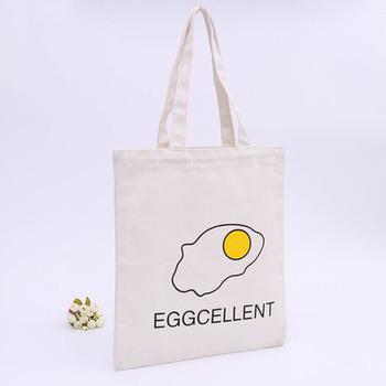 100% Nature cotton linen custom printed simple style tote cotton canvas bag e47ae3bb54