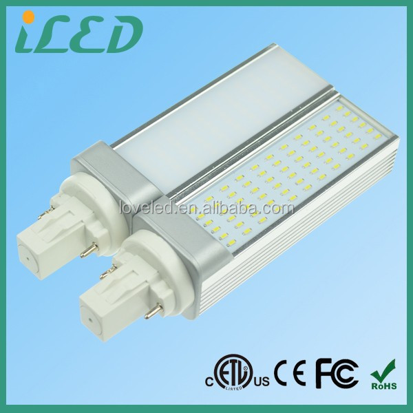 Milky PC Cover 180 Degree LED Plug Light Bulb Cool White 700lm 120V 7W 2 pin Gx23 LED