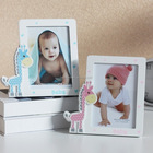 Home & Me baby girl and baby boy photo frame with giraffe accessories