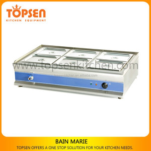 Bain Marie with All S.S Body,Competitive Price 4/5/6/8Pans Bain Marie