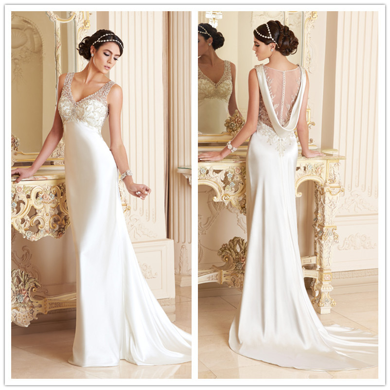 Elegant Silk Wedding Dresses With Sleeves Photo 10