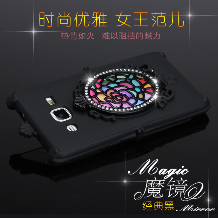Best selling items soft tpu mirror design bling bling rhinestone case for samsung galaxy tab