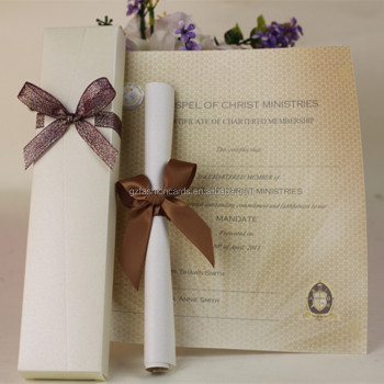 diy letter style ribbon decoration boxed wedding invitation