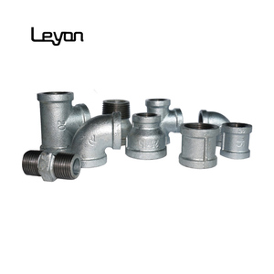 zinc coated pipe fittings equal tee malleable iron galvanized fitting cast iron gi elbow female pipe fitting supplier