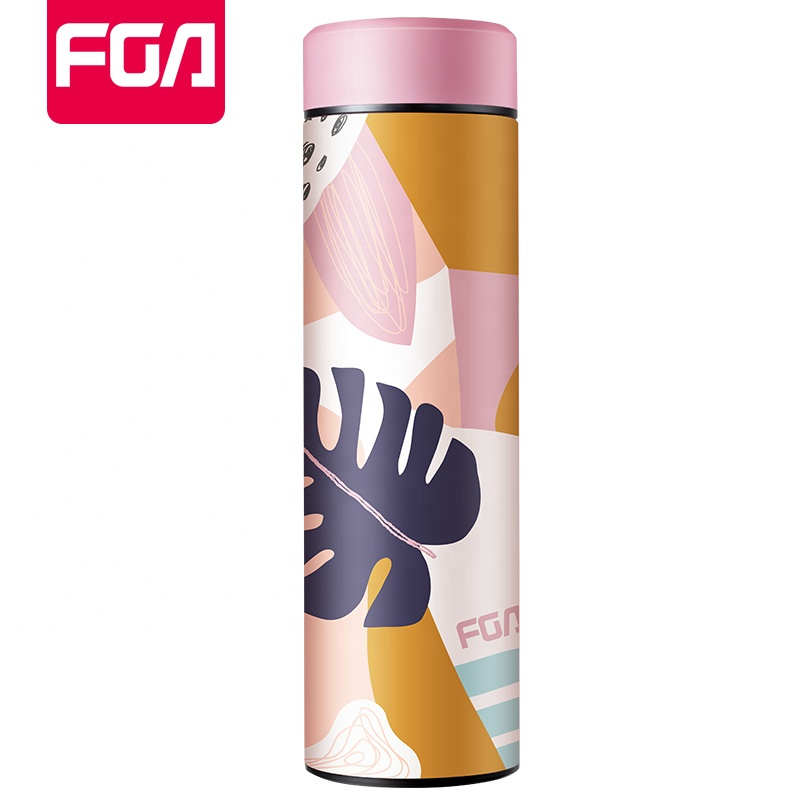 FGA Double wall insulated stainless steel thermos bottle water bottle with custom logo, Blue;red;black;pink