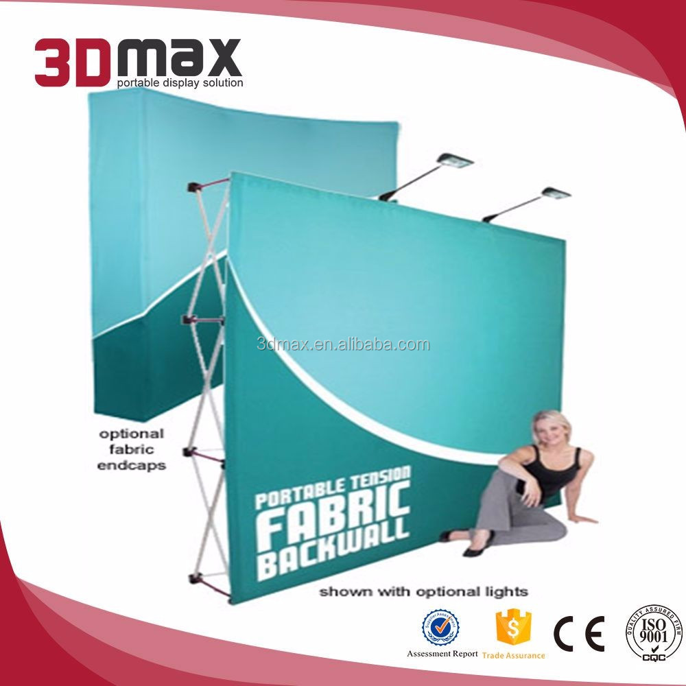 Booth Display Walls Pop Up Fabric Display With Hard Case