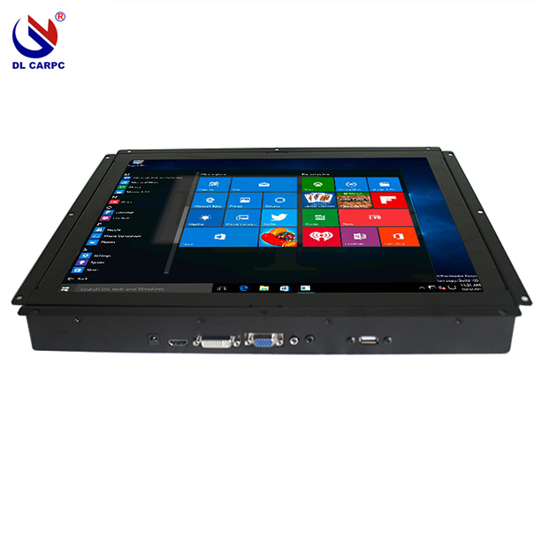 12 inch led monitor with resistive touch, USB, HD, VGA, DVI port for industrial use