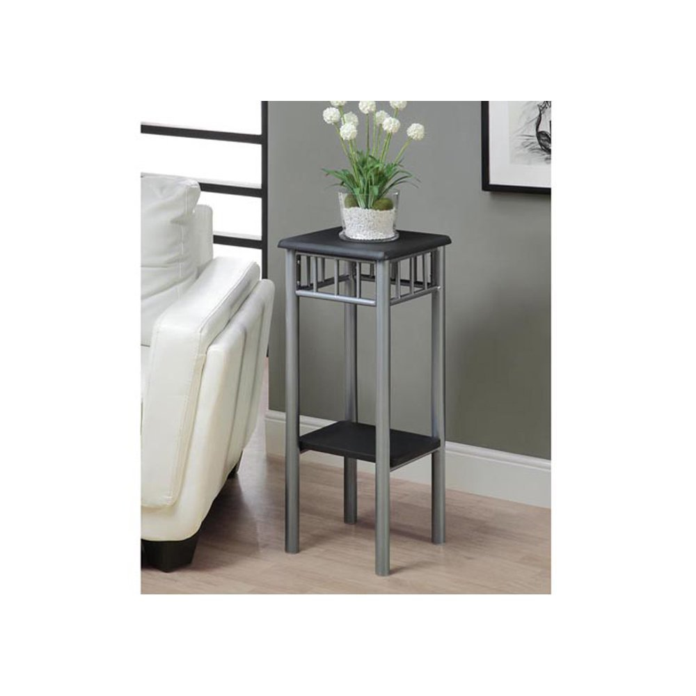 1a53ae2e6a9b Get Quotations · Monarch Specialties Black and Silver Metal Plant Stand