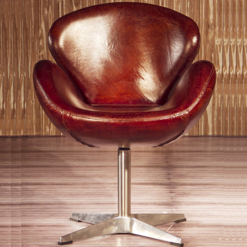 vintage spitfire aviation brown leather swan chair buy leather