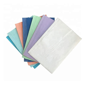 3 Ply 33X45cm Disposable dental napkin Medical Use dental patient bibs Colourful Waterproof Dental Bib