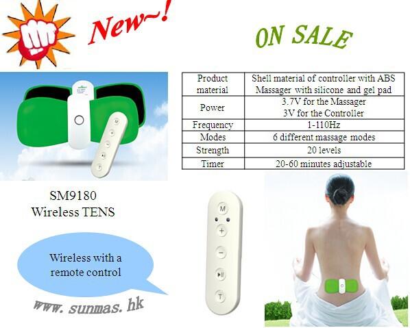 sm9180 wireless tens massager
