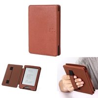 Litchi Design Pu leather case for kobo glo,handle cover for kobo glo hd