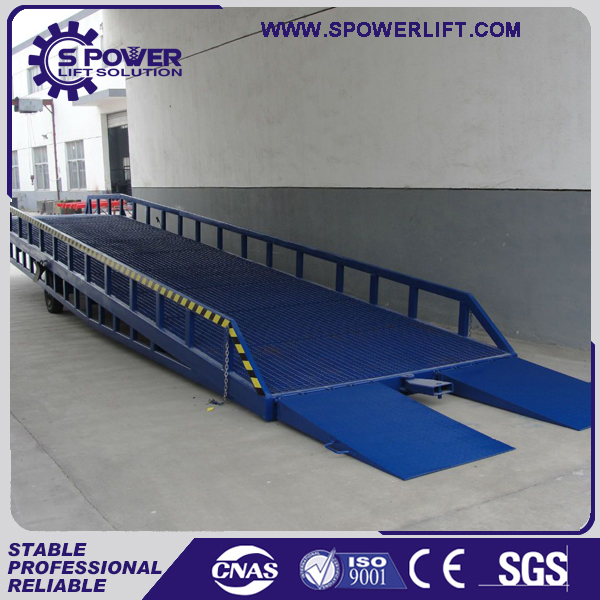 5-15T made in China hydraulic mobile utility trailer ramp